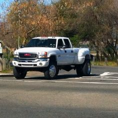 Lifted GMC Dually truck lifted