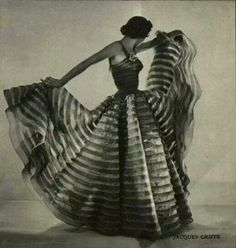Jacque Griffs evening dress 1951