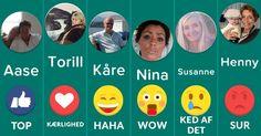 Hvilke emoji'er repræsenterer dig og dine venner?