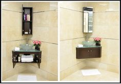 corner vanity - under stairs bath, current fav