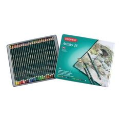 Derwent Artist Colouring Pencil 24 Tin ❤ liked on Polyvore featuring home and home decor