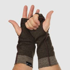 Men's Arm Warmers in Brown and Cappuccino  Upcycled by mirabeans