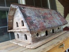 BARN BIRD HOUSE WITH OLD TIN ROOF. | protractedgarden