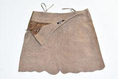 Size 26 Waist Fab Vintage Black Lambskin Knee Length Pencil Skirt