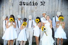 Cute style and I like how only the bride and groom's face is fully visible.