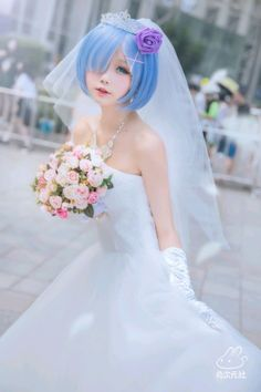 Re Zero Rem Cosplay Wedding Version - Situs Kumpulan Cosplayer Terbaik Miku Cosplay, Kawaii Cosplay, Anime Cosplay Girls, Asian Cosplay, Cute Cosplay, Amazing Cosplay, Cosplay Outfits, Best Cosplay, Cute Kawaii Girl