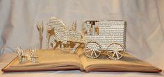 """Amish Country"" book sculpture (artist: Jodi Harvey-Brown)"