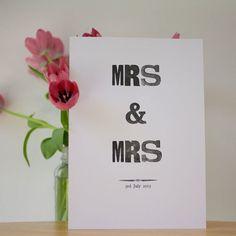 Wedding Anniversary Keepsake Gift Letterpress Personalised £15.00