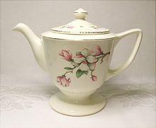 Homer Laughlin Liberty Shape Dogwood Tea Pot - Mid Century