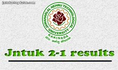 JNTUK 2-1 Results 2016: JNTU Kakinada has conducted the B.Tech 2-1 Semester Regular/Supplementary Exams in the month of November. Check R13 2-1 results, 2nd year 1st sem supply results.