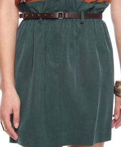Ruffle Waist Skirt w/ Belt
