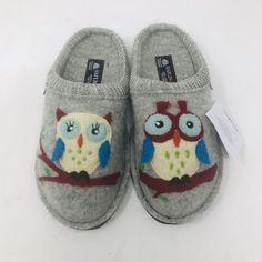 eb5c047e195 HAFLINGER WOMEN S OLIVIA (OWLS) SLIPPERS SIZE 7  fashion  clothing  shoes
