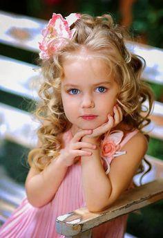 Pretty flower girl in pink