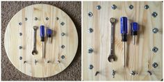 Montessori Nuts and Bolts Board by LexiesShop on Etsy Montessori Materials, Montessori Activities, Educational Activities, Toddler Activities, Woodworking Software, Fine Woodworking, Woodworking Nightstand, Finger Gym, Emergent Curriculum