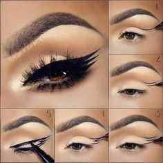 Eyeliner hacks are essential for all makeup junkies. Add these 17 great eyeliner tips, tricks and hacks to your collection! Diy Makeup, Makeup Tips, Beauty Makeup, Makeup Tutorials, Makeup Blog, Makeup Products, Makeup Ideas, Beauty Products, Hair Beauty