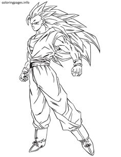dragon ball z goku coloring pages free