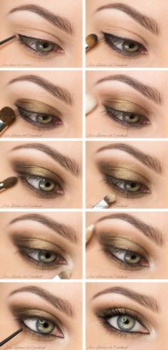 10 Gold Smoky Eye Tutorials for Fall