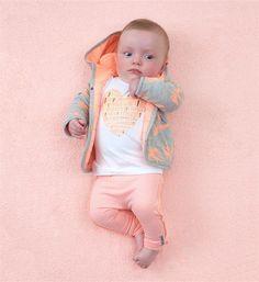 Tumble 'n Dry newborn Sweatvesten Bellinger Perzik Tumble N Dry, Onesies, Clothes, Shopping, Fashion, Summer Time, Outfits, Moda, Fashion Styles