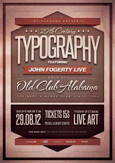 Typography Poster by Roberto Perrino, via Behance