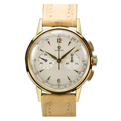 OMEGA Yellow Gold Two Register Chronograph circa 1960s