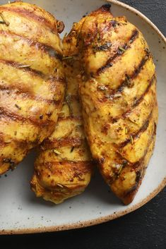 The secret to these five-star chicken breasts is a simple, flavorful marinade of turmeric, rosemary, garlic, lime juice and olive oil Most importantly, as with all white meat chicken, don't overcook it or you'll end up with well-seasoned shoe leather.