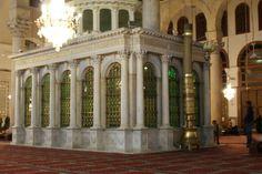 Inside theUmayyad Mosque, Damascus. The shrine of John the Pebtist.