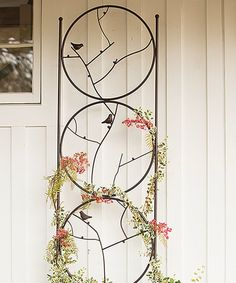 Another great find on #zulily! Bird Circle Trio Garden Trellis #zulilyfinds