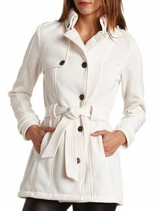 Military Fleece Trench Coat Charlotte Russe