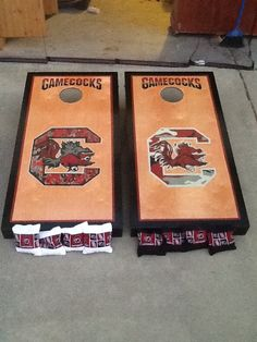 Gamecocks camo cornhole boards