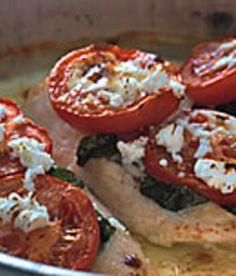 Smetanové kuře s rajčaty