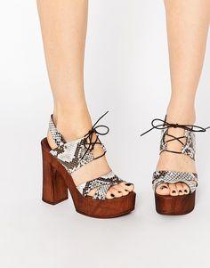 Image 1 of ASOS TINA Tie Up Heeled Sandals