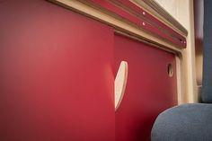 Campervan kitchen sliding door