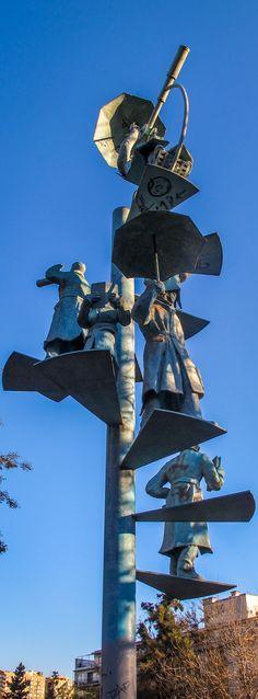 Escultura de Hernán Puelma en el Parque Bustamante Sculptures, Sci Fi, Urban, Photography, Art, Street, Parks, Santiago, Sculpture