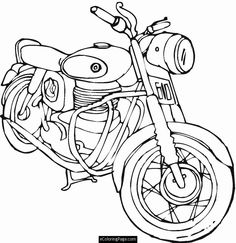 Free Harley Davidson Motocycle Coloring Pages | Harley Davidson printable coloring pages
