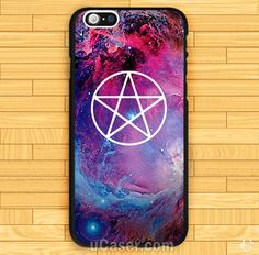 Sell Pentagram Galaxy Nebula design art iPhone Cases cheap and best quality. *100% money back guarantee