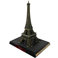 Free to print 3D paper model of the Eiffel Tower.  Educational printable paper craft.