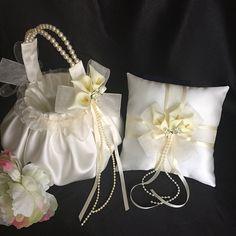 SimpleLife Romantic Bowknot Burlap Satin Wedding Ceremony Party Rose Flower Girl Basket