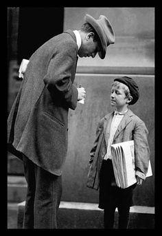 Michael McNelis, Newsboy, Age 8