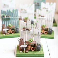 2015 Strawberry By Minitama Lolly Stick Craft, Popsicle Stick Crafts, Craft Stick Crafts, Diy And Crafts, Miniature Crafts, Miniature Fairy Gardens, Miniature Dolls, Miniature Houses, Mini Plants