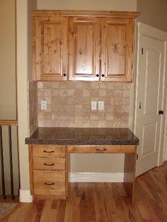 Tiled Kitchen Desk Area