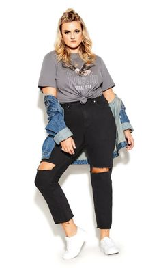 Casual Plus Size Outfits, Plus Size Fall Outfit, Curvy Girl Outfits, Edgy Outfits, Teen Fashion Outfits, Cute Plus Size Clothes, Trendy Plus Size Fashion, Plus Size Casual, Look Plus Size