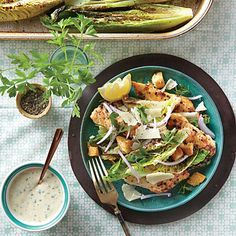 Roasted Chicken Caesar Salad - Quick & Delicious Summer Salad Recipes - Southern Living