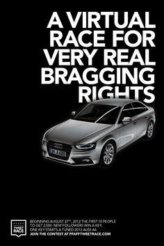 Audi / Pfaff Auto Tweet Race: Virtual Race, Follow Yourself, Trending, Status