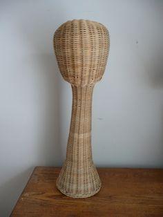 Vintage #Mannequin #Head Wicker #Hat #Display by... | Wicker Blog  wickerparadise.com