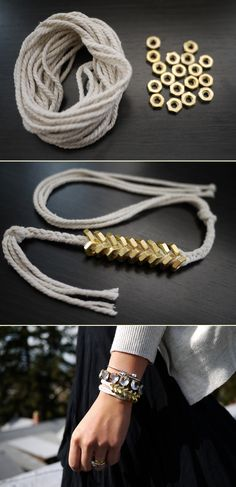 Braided hex nut bracelet / honestlywtf