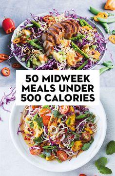 50 midweek meals under 500 calories - gezonde recepten - Kalorienarme Rezepte 800 Calorie Meal Plan, 500 Calorie Dinners, Dinners Under 500 Calories, No Calorie Foods, Low Calorie Recipes, Diet Recipes, Cooking Recipes, Fodmap Recipes, Vegan Recipes