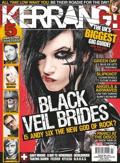 """"""" First rock mag to feature Andy/BVB on its cover was Kerrang! Black Viel Brides, Black Veil Brides Andy, Black Bride, Emo, Angels And Airwaves, Rock Sound, Sign Up Page, Bride Veil, Andy Black"""