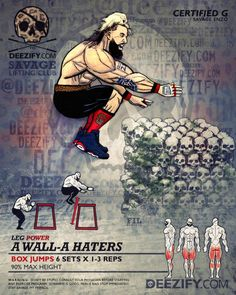 leg exercise: box jumps certified g