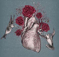 hummingbirds and an anatomical heart drawing Art Beat, Street Art, Ghost In The Machine, Graffiti, Anatomical Heart, Human Heart, Anatomy Art, Human Anatomy, Inspiration Art