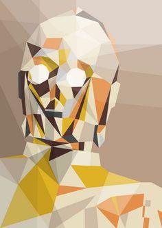 Superhéroes geométricos por Liam Brazier | Arte, Imágenes, en Gran Angular Blog